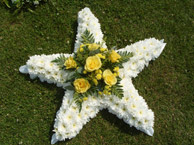star shaped funeral tribute