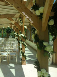 Foliage and Rose Garlands by Abridge Florist